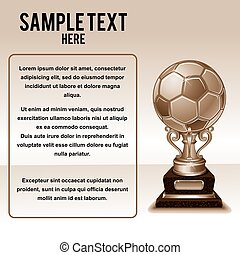 Background with Soccer Cup and Copy Space