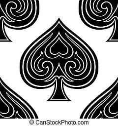 Background with spades.