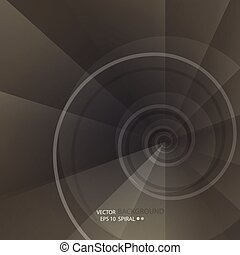 Background with spiral vortex of abstract geometric shapes....