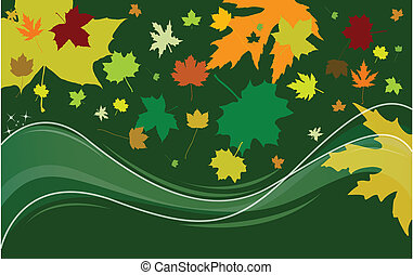 background with spring leaves
