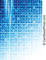 Background with squares - Bright background with blue...