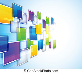Background with squares - Bright background with colorful ...