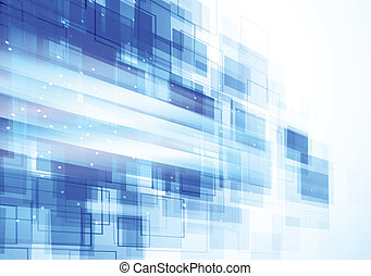 Background with squares - Bright blue background with...