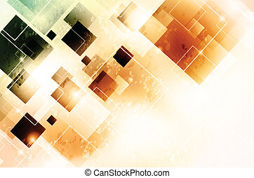 Background with squares