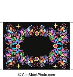 Background with star and pattern from bright color