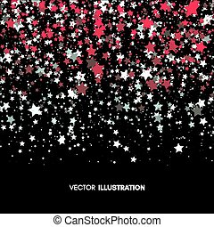 Background with Stars. Abstract Vector Illustration.