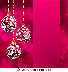 Background with stars and Christmas balls. EPS 8 vector file...
