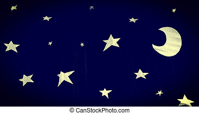 Stars - Background with Stars shapes on the Dark Curtain