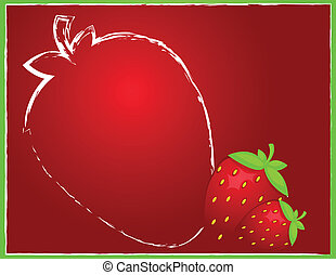 Background with strawberry