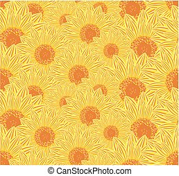 Background with sunflowers.