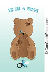 Background with teddy bear