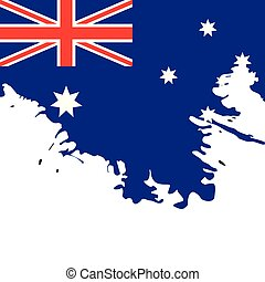 Background with the flag of Australia