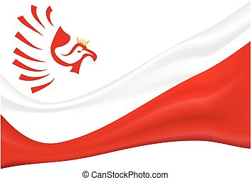 background with the flag of Poland and the eagle