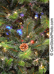 Background with the image of xmas tree