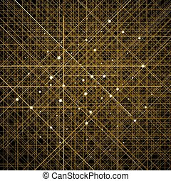 Background with thin golden crossed lines. Cellular...