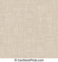 Background With Threads. Brown Natural Linen. Vector...