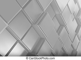 Background with Three-dimensional Cubes