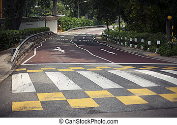 Background with tire marks on road