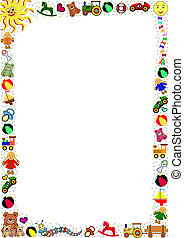 background with toys border