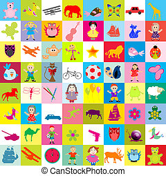 Background with toys for kids