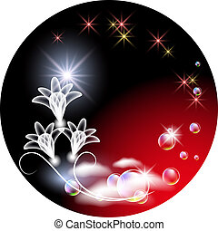 Background with transparent flowers - Glowing background ...