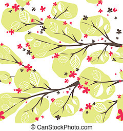 Background with tree. Vector illustration
