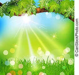 background with trees and grass