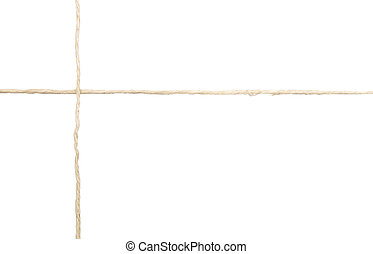 Background with twine on white background