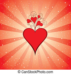Background with Valentine heart