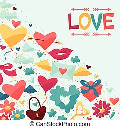 Background with Valentine's and Wedding icons. - Background ...