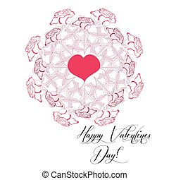 Background with Valentines day heart