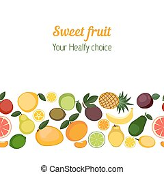 Background with various fruits