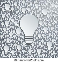 Background with vector light bulbs