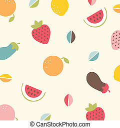 Background With Vegetables And Fruit