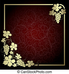 Background with vine - Claret background with frame from...