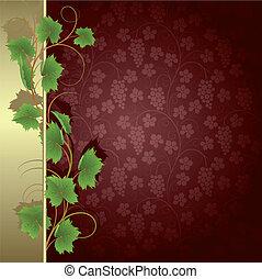 Background with vine - Claret background with vine