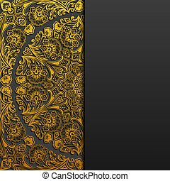 Background with vintage floral ornament