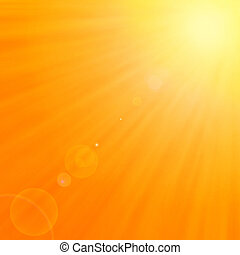 Background with warm sun and lens flare - Background texture...