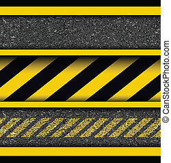 Background with warning stripes