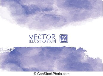 Background with watercolor blots. Hand drawn blots element.