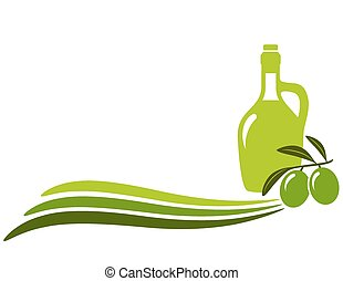 background with wave and olive oil