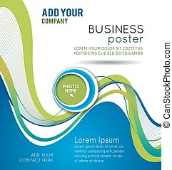 Background with wave - brochure design or flyer