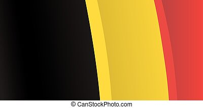 Background with waving Belgian Flag. Vector