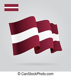Background with waving Latvian Flag. Vector illustration