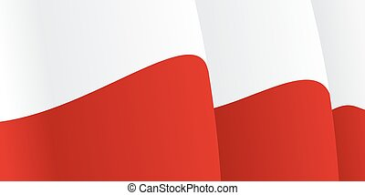 Background with waving Polish Flag. Vector illustration