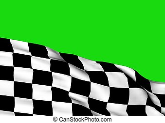 Background with waving racing flag