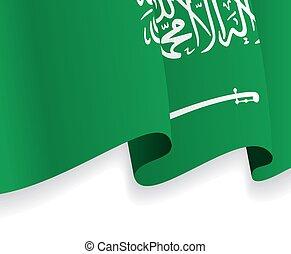 Background with waving Saudi Arabia Flag. Vector