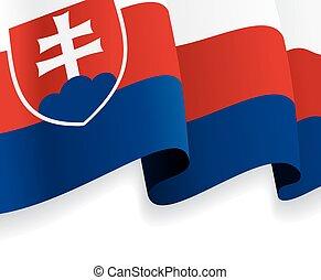 Background with waving Slovak Flag. Vector illustration