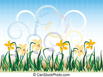 Background  with  wildflowers