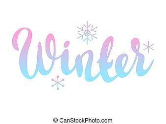 Background with winter lettering.